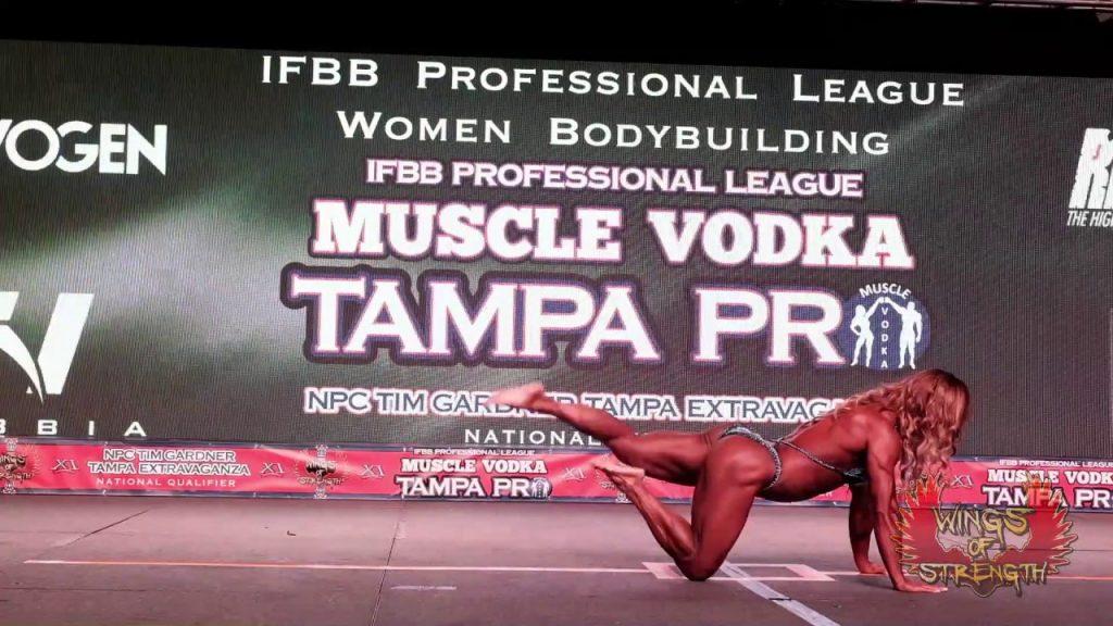 Women's Bodybuilding Alicia Alfaro Posing Routine
